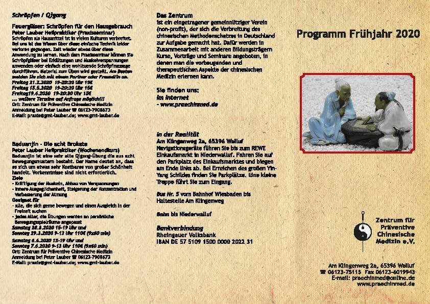 Programm: Flyer 1. Halbjahr 2020
